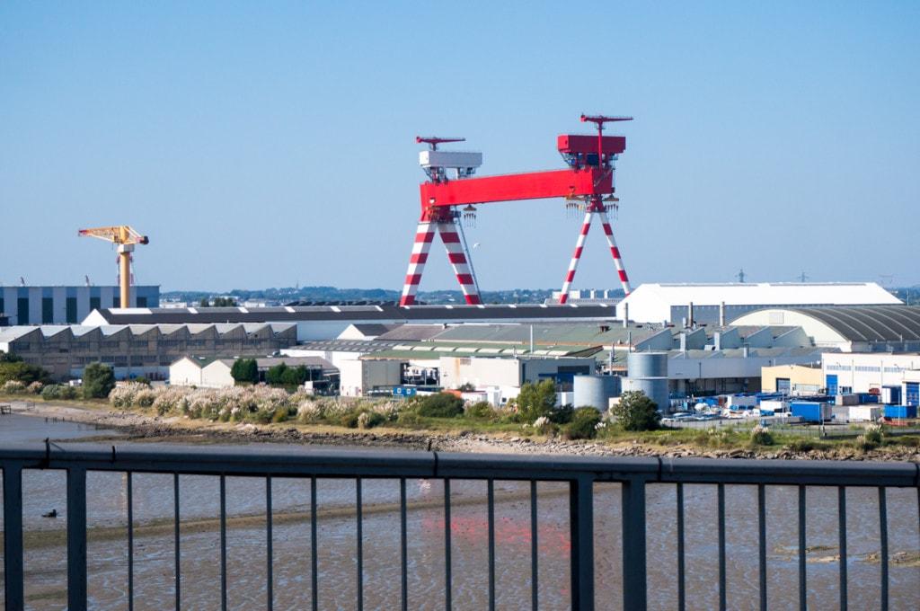 Le plus grand portique d'Europe s'élève au dessus de Saint-Nazaire