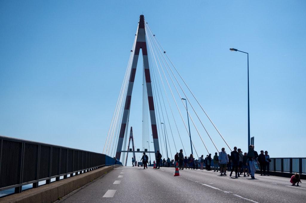 le sommet du pont de saint-nazaire