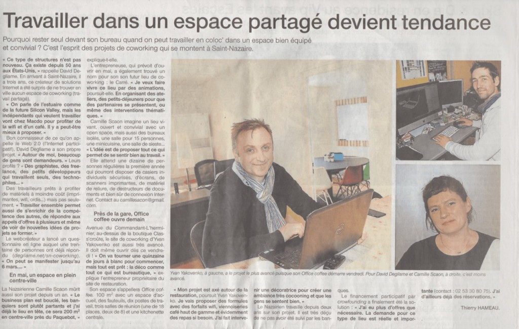 article coworking ouest-france