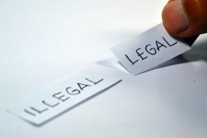 au niveau juridique : légal ou illégal